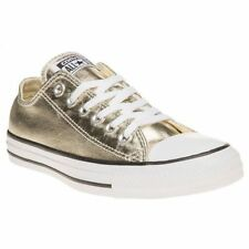 CONVERSE Womens Converse Metallic All Star Ox Canvas Trainers Lace Up 153181