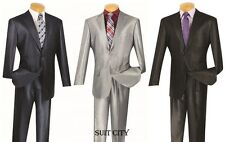Men's Suit Single Breasted 2 Buttons 2 Piece Classic Fit Shark Skin 2SK-1