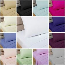 Easycare Percale Polycotton Bed Sheets - Flat, Fitted, Valance - 17 x Colours