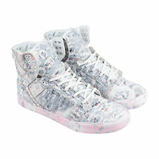 Supra Skytop Mens White Suede High Top Lace Up Sneakers Shoes