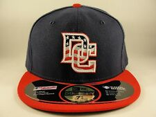 Washington Nationals DC Logo MLB OnField New Era 59FIFTY Fitted Hat Cap Navy Red