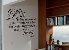 LIFE IS NOT MEASURED QUOTE VINYL WALL DECAL STICKER ART-HOME DECOR