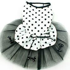 New Small Dog Princess Dress Puppy Pet Dog with   Polka Dot Dress Cat Clothe