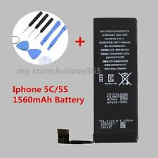 New 1560mAh Li-ion Internal Battery Replacement for iPhone 5S 5C + Tools  TOP V6