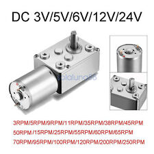 High Torque Turbo Worm Gear Speed Motor DC 12V 24V Reduction 1-250RPM 6mm Shaft