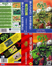 - The Ooze Megadrive PAL &  NTSC Genesis Replacement Box Art Case Insert Only
