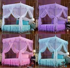 Princess Flower 4 Corner Post Bed Canopy Mosquito Netting Twin Queen King Sizes