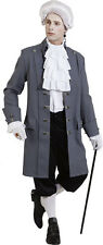 Aristocrat Baroque Jacket grey Deluxe NEW - Men's Carnival Costume Kos