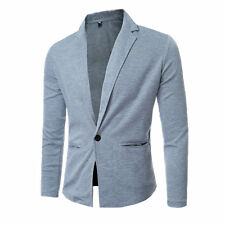 Stylish Men's Coat Casual Suit Outwear One Button one Button Short Knit Jacket