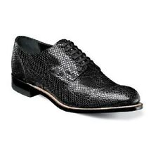 Madison Stacy Adams  Mens Shoes Snake leather Print oxford Black 00079-001 New
