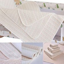 Infant Baby Kids Reusable Cotton Waterproof Urine Mat Nappy Cover Changing Pad