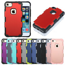 Hybird Shockproof Rugged Gel PC Hard Case Cover Skin for Apple iPhone 7&7 Plus+