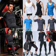 Boy Mens Compression Base Layer Tshirt Tops Pants Thermal Gym Running Sport Gear