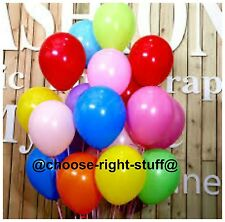 "10""-100 ALL BIRTHDAY PARTYS LATEX PLAIN BALLOONS HIGH QUALITY BALOON ENGEMENT"