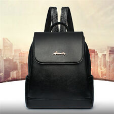 Vintage Women PU Leather Travel Backpack Rucksack Shoulder Bag Schoolbag Bookbag