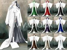 White Halloween Hood Cloak Game of Thrones Medieval Wizard Robe Wicca LARP Goth