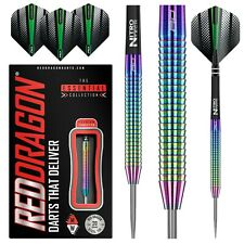 RAZOR EDGE RAINBOW TUNGSTEN DARTS Red Dragon™ Dart, Stems, Flights, Case, 22-26g