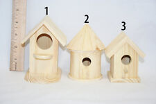 Small Unfinished Wood Bird House, Wood Bird House, Wooden Birdhouse, Lawn Art