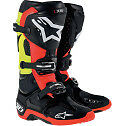 ALPINESTARS TECH 10 MOTOCROSS ATV DIRTBIKE MX BOOTS BLACK/RED/YELLOW MENS SIZE