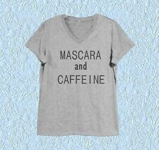 Mascara shirt Cosmetic XS S M L XL white tank top/ Grey tee/ dress