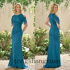 Chiffon Ruched Mother Of The Bride Dresses For Ladies Wedding Formal Gowns 2017