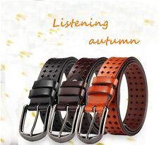 New Genuine Leather Western Belt Waistband for Women Pin Buckle Hollow Out Style