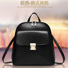 Vintage Leisure Backpack Travel PU Leather Handbag Rucksack Shoulder Bag Bookbag