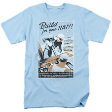 US Navy Build Your US Navy Mens Short Sleeve Shirt Light Blue