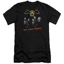 Aerosmith Get Your Wings Mens Slim Fit Shirt Black