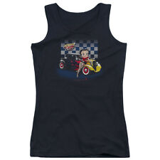Betty Boop Hot Rod Betty Boop Juniors Tank Top Shirt BLACK