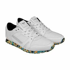 Creative Recreation Casso Mens White Leather Lace Up Sneakers Shoes