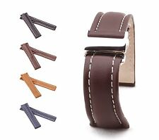 BOB Classic Calf Deployment Strap for Breitling, 20-24 mm, 4 colors, new!