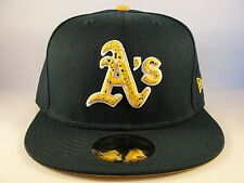 MLB Oakland Athletics New Era 59FIFTY Fitted Hat Cap DND Green
