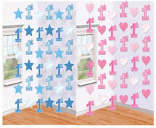 1st Birthday Party Foil String Hanging Ceiling Door Decorations Baby Girl or Boy