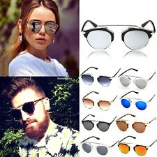 Unisex Vintage Retro Women Men Glasses Aviator Mirror Lens Sunglasses Fashion