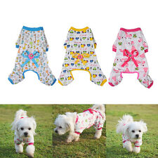 Small Pet Dog Cat Stripes Pajamas Coat Cat Puppy Cozy Clothes Apparel Clothing