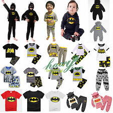 Superhero Batman Toddler Kids Boy Clothes Coat T-Shirt Pants Pyjamas Outfits Set