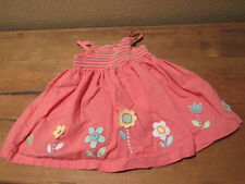 Pumpkin Patch Baby Girl Pink Flower Dress, 3-6 mos A4