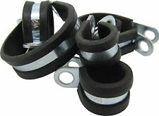 Rubber Lined Steel Zinc Plated Brake Pipe Marine Wiring Hose Tidy Clamps P Clips