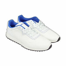 Diesel S-Swifter Mens White Leather Lace Up Trainers Shoes