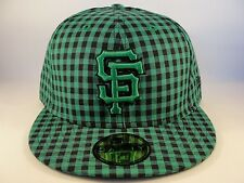MLB San Francisco Giants New Era 59FIFTY Fitted Hat Cap Buffagingh Green Black