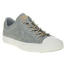 New Mens Converse Green Khaki Star Player Ox Canvas Trainers Lace Up