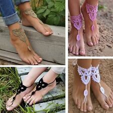 Dance Yoga Beach Foot Jewelry Sandals Crochet Barefoot Anklet Knit Anklet
