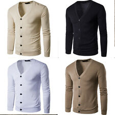 Newest Mens Slim Fit Zip Up Knitwear Pullover Cardigan Sweater Jacket Coat Tops
