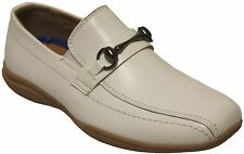 Joseph Dann 2363603 Boys White Slip On Wedding Communion Loafers Dress Shoes
