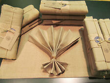 Free Ship  LOT OF 6 FABRIC PLACEMATS WITH 6 MATCHING NAPKINS by Over and Back