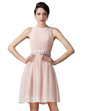 Grace Karin CUSTOM Short Pink Bridesmaids Cocktail Evening Prom Party Gown Dress