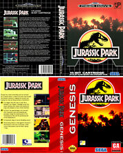 Jurassic park Mega Drive NTSC PAL Replacement Box Art Case Insert Cover Scan