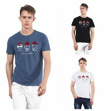 Fashion Mens New Cotton C Neck Tops Summer Causal Plus Size Hot Blouse T Shirt