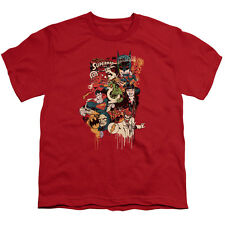DC Comics Dripping Characters Big Boys Youth Shirt Red